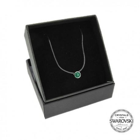 haute qualité 60% de réduction personnalisé Collier fil nylon transparent orné de Cristaux Swarovski emerald | Styles &  Bijoux