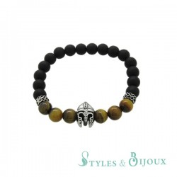 Bracelet boule casque spartiate