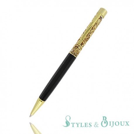 Stylo feuille d'or