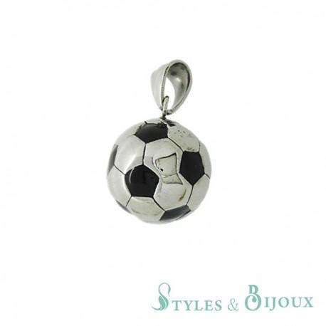 Pendentif ballon de foot acier