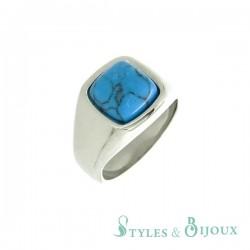 Bague pierre turquoise