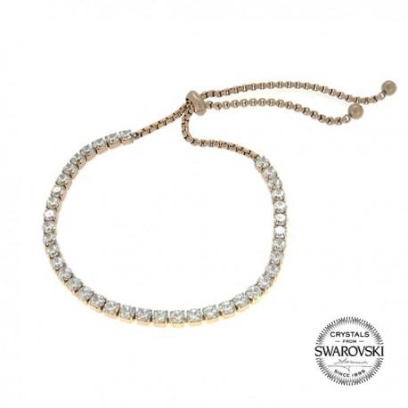 Bracelet acier orné de Cristaux Swarovski