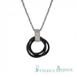 Collier anneaux entrelacés en céramique