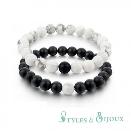 Bracelets de distance pierre
