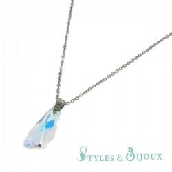 Collier pendentif cristal