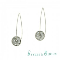 Boucles d'oreilles pendantes cristal