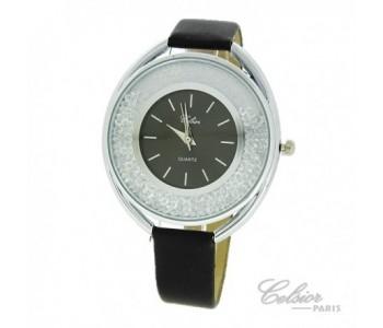 Montre Femme bracelet cuir et silicone