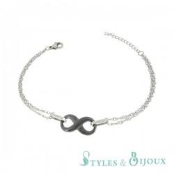 Bracelet infini céramique noire