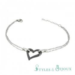 Bracelet cœur céramique