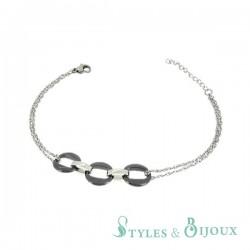 Bracelet maillons ronds céramique