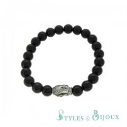 Bracelet homme perle Bouddha