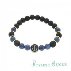 Bracelet Homme boules motif marin