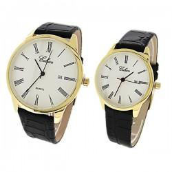 Duo montres cuir Homme Femme Celsior