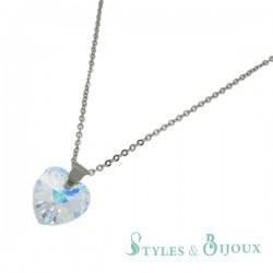 Collier cristal cœur